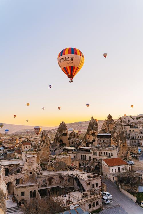 Ingyenes stockfotó ballon, építészet, épület témában