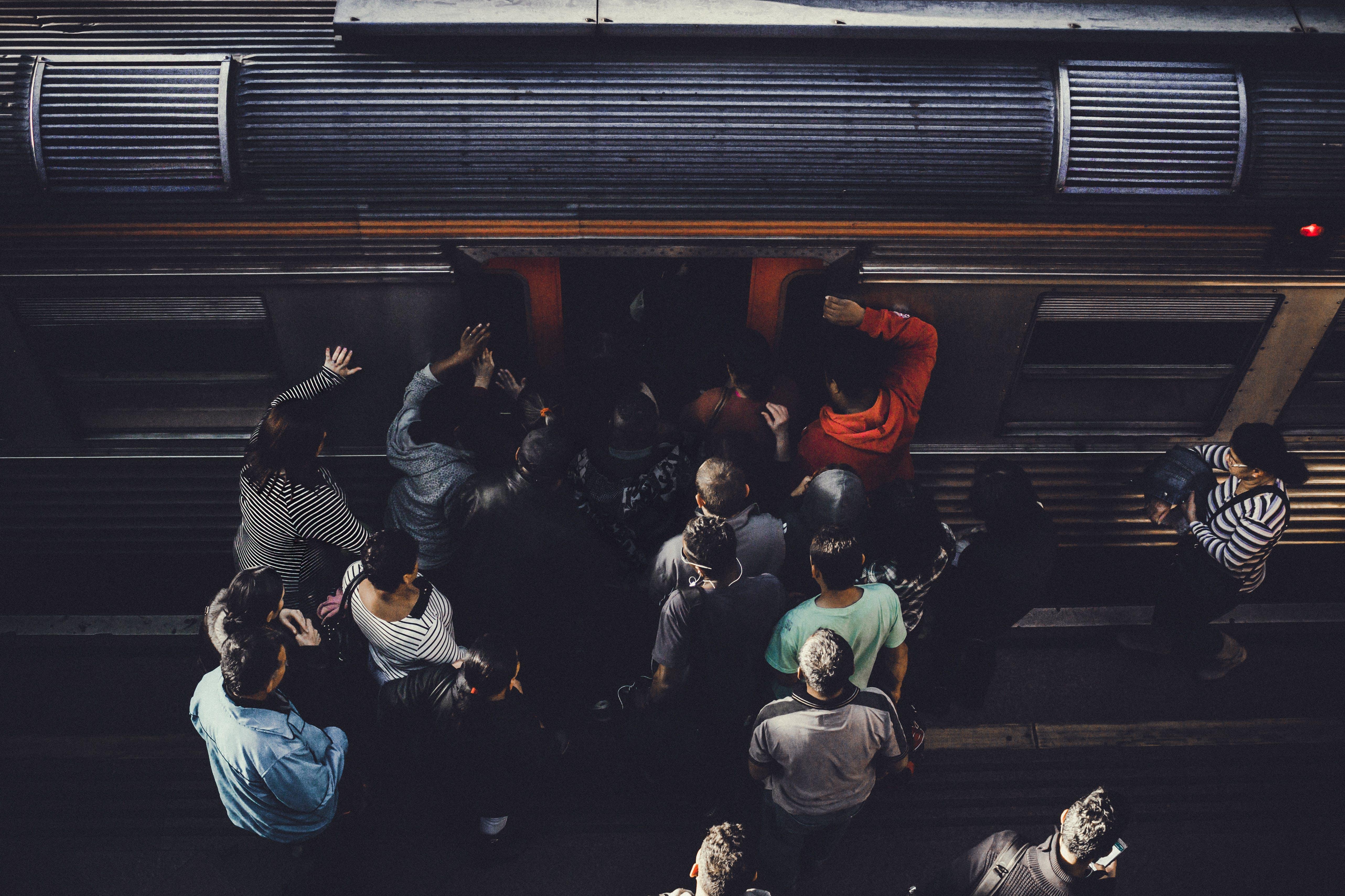 People Gathering Near Train
