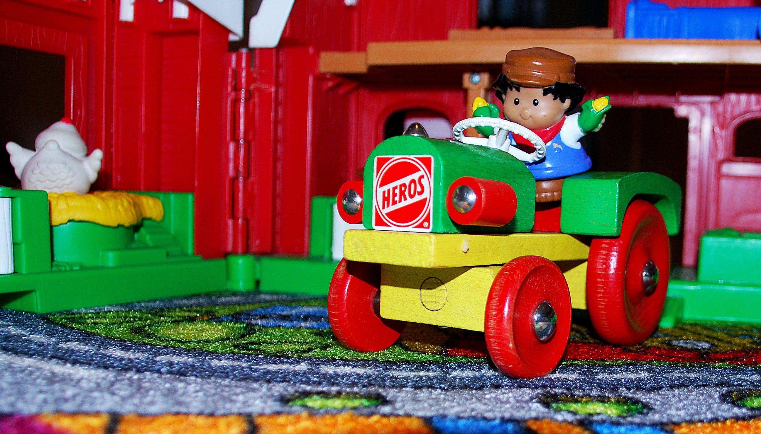 Free stock photo of tractor, toys
