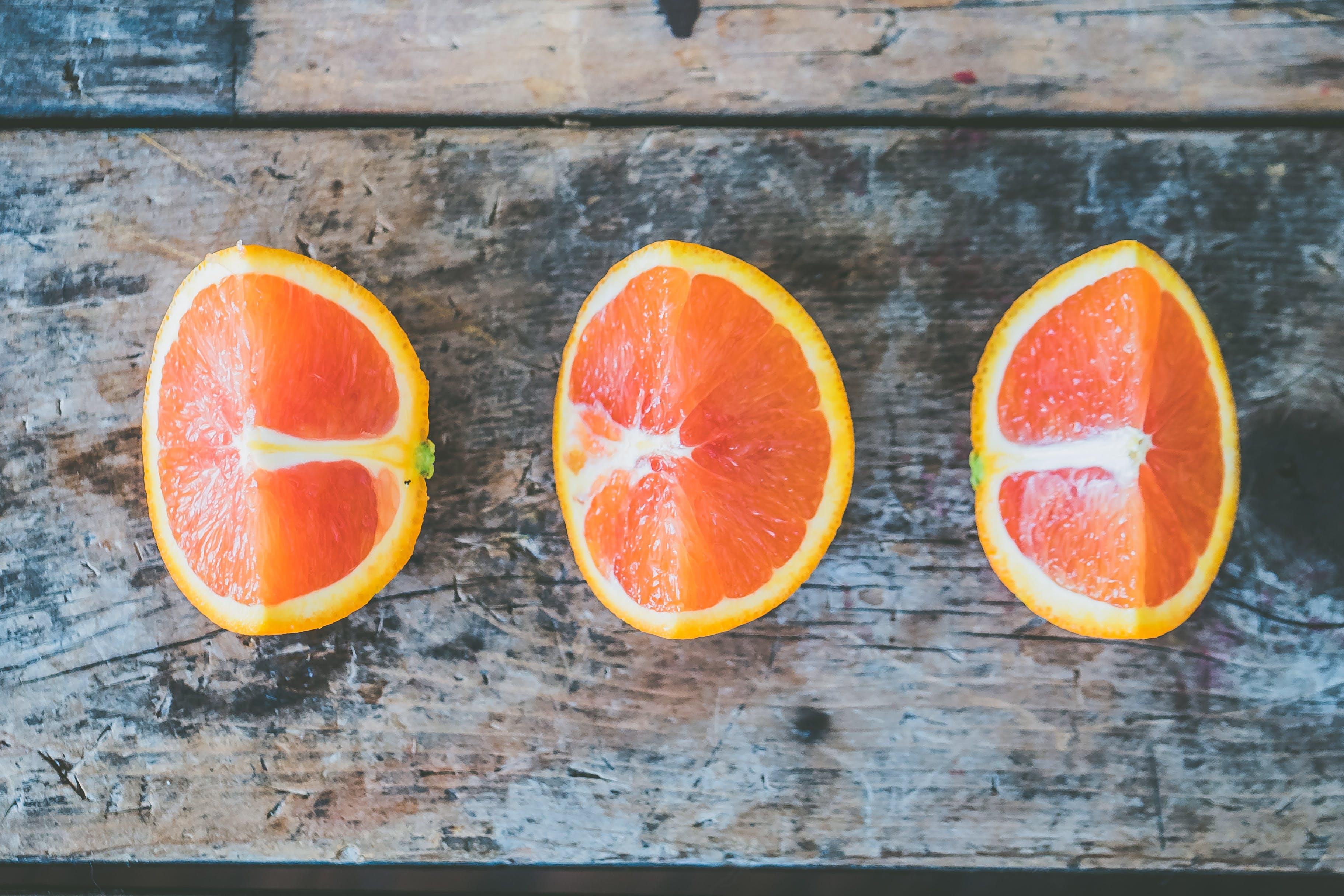 Three Slice of Citrus Fruits