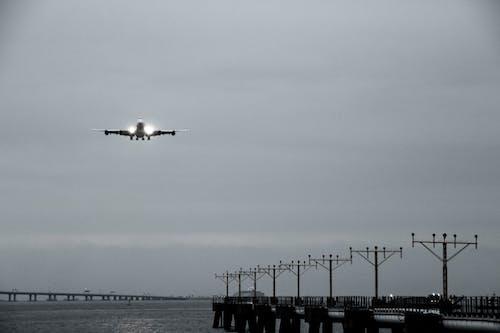 Fotos de stock gratuitas de aeronave, aeropuerto, agua