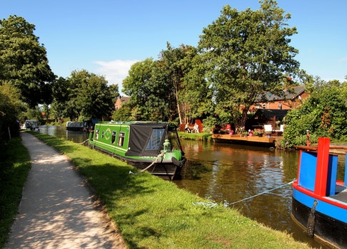 Free stock photo of canal, canal boat
