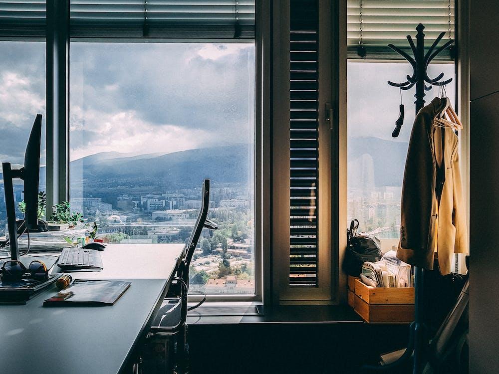 cadira, disseny d'interiors, escriptori