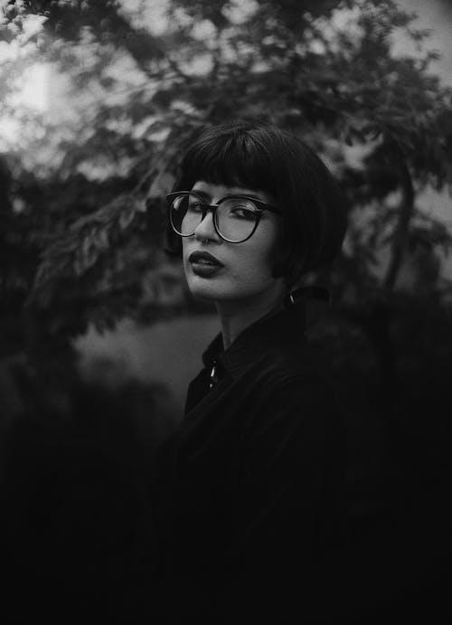 Free stock photo of black and white, dark, eye