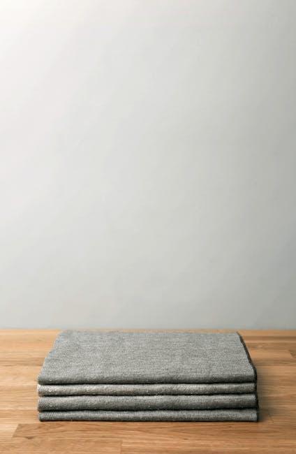Four gray textiles