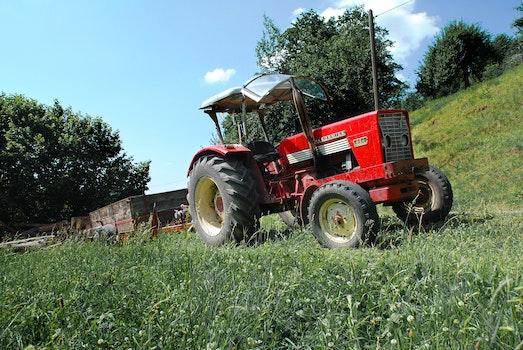 Kostenloses Stock Foto zu rot, traktor, thema maschinen