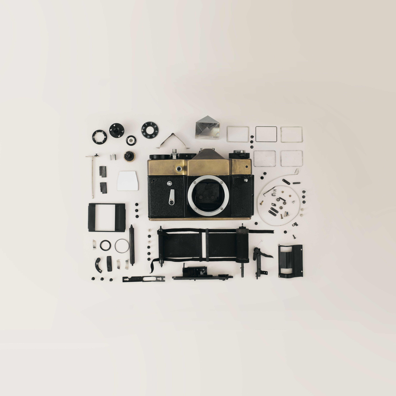 Dslr Camera Flat Lay