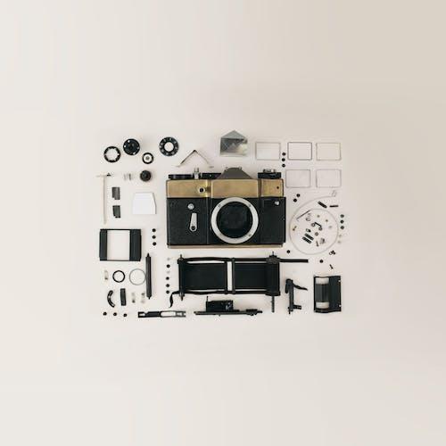 Foto d'estoc gratuïta de càmera, càmera de vídeo, complex, components