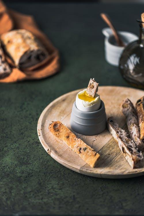 Free stock photo of boiled egg, bread, breakfast