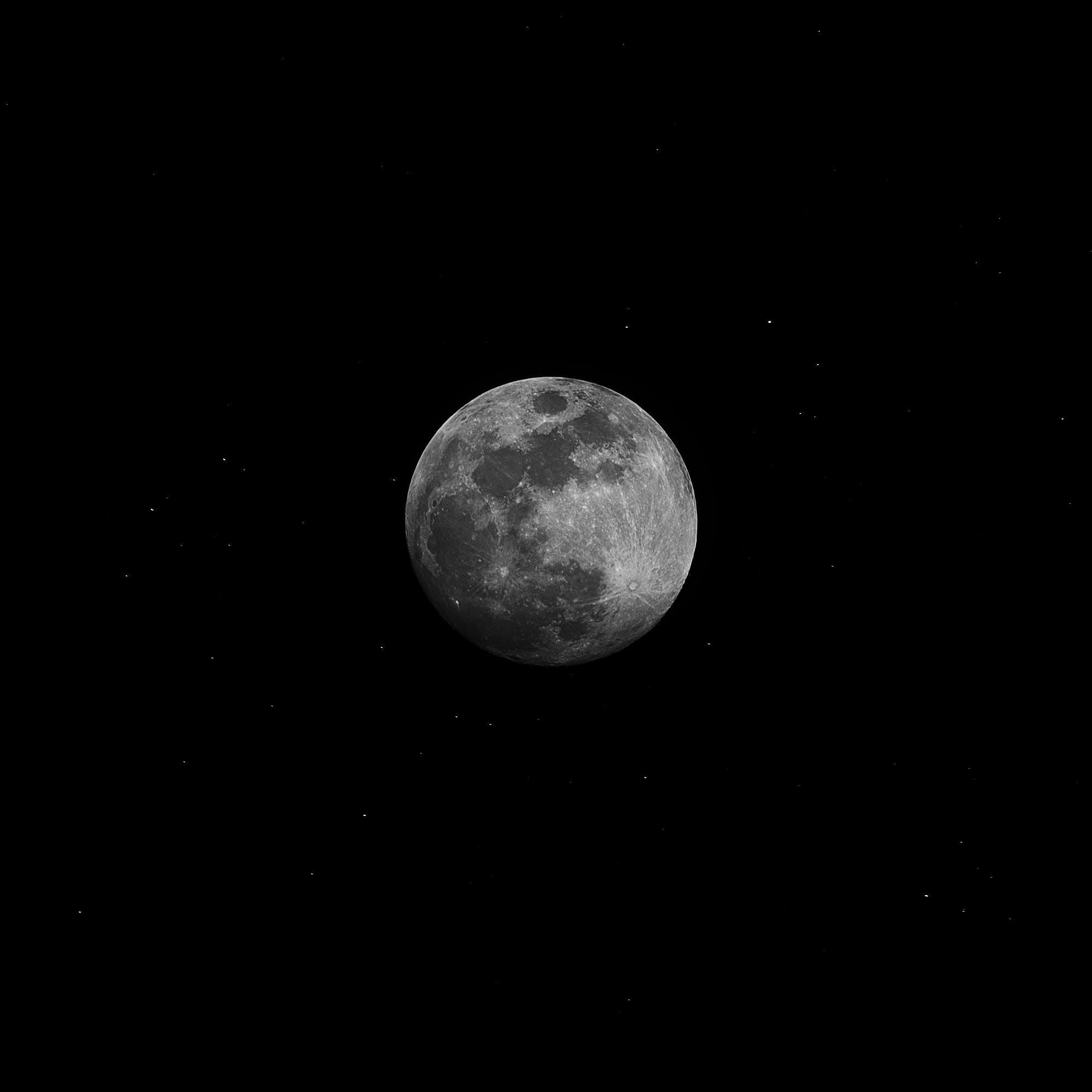 Foto d'estoc gratuïta de astrologia, astronomia, blanc i negre, cràter