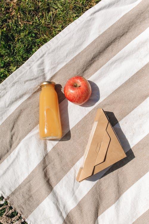 Immagine gratuita di apple, bottiglia di vetro, laici piatta