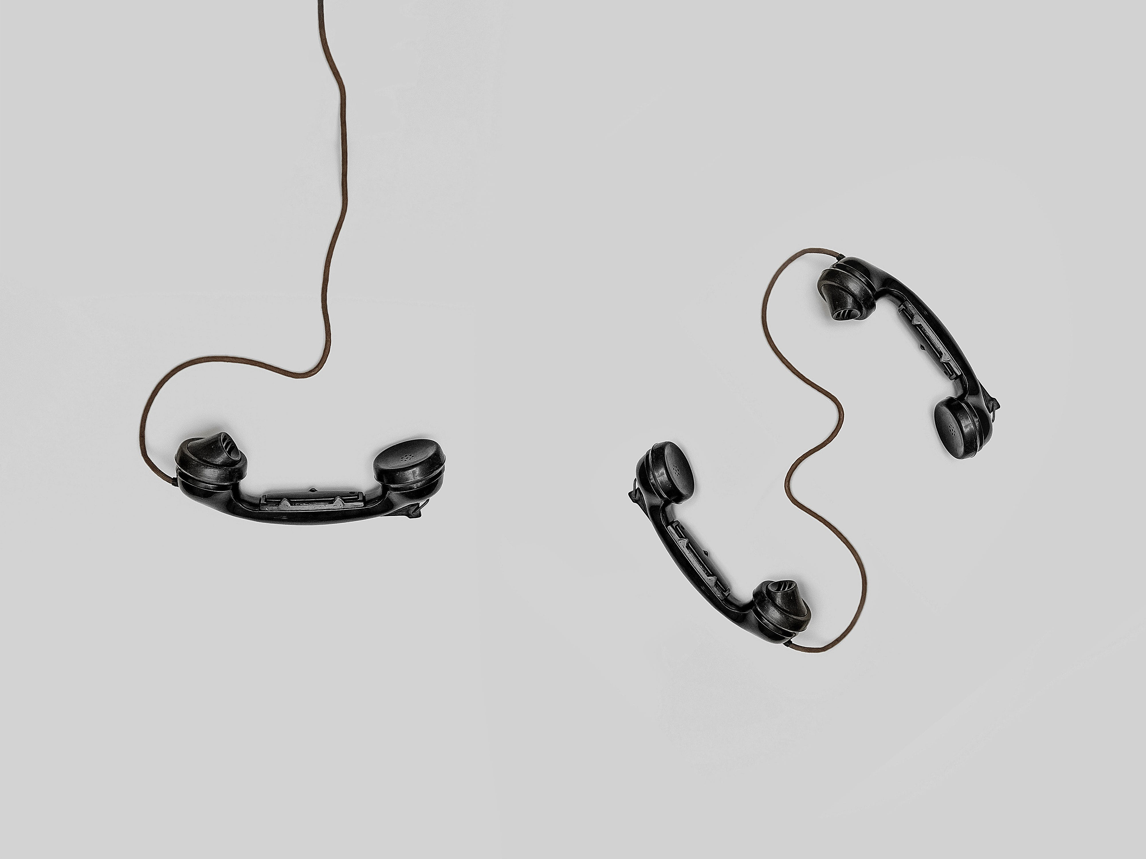 Three Black Handset Toys