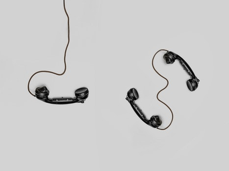 Three Black Handset Toys