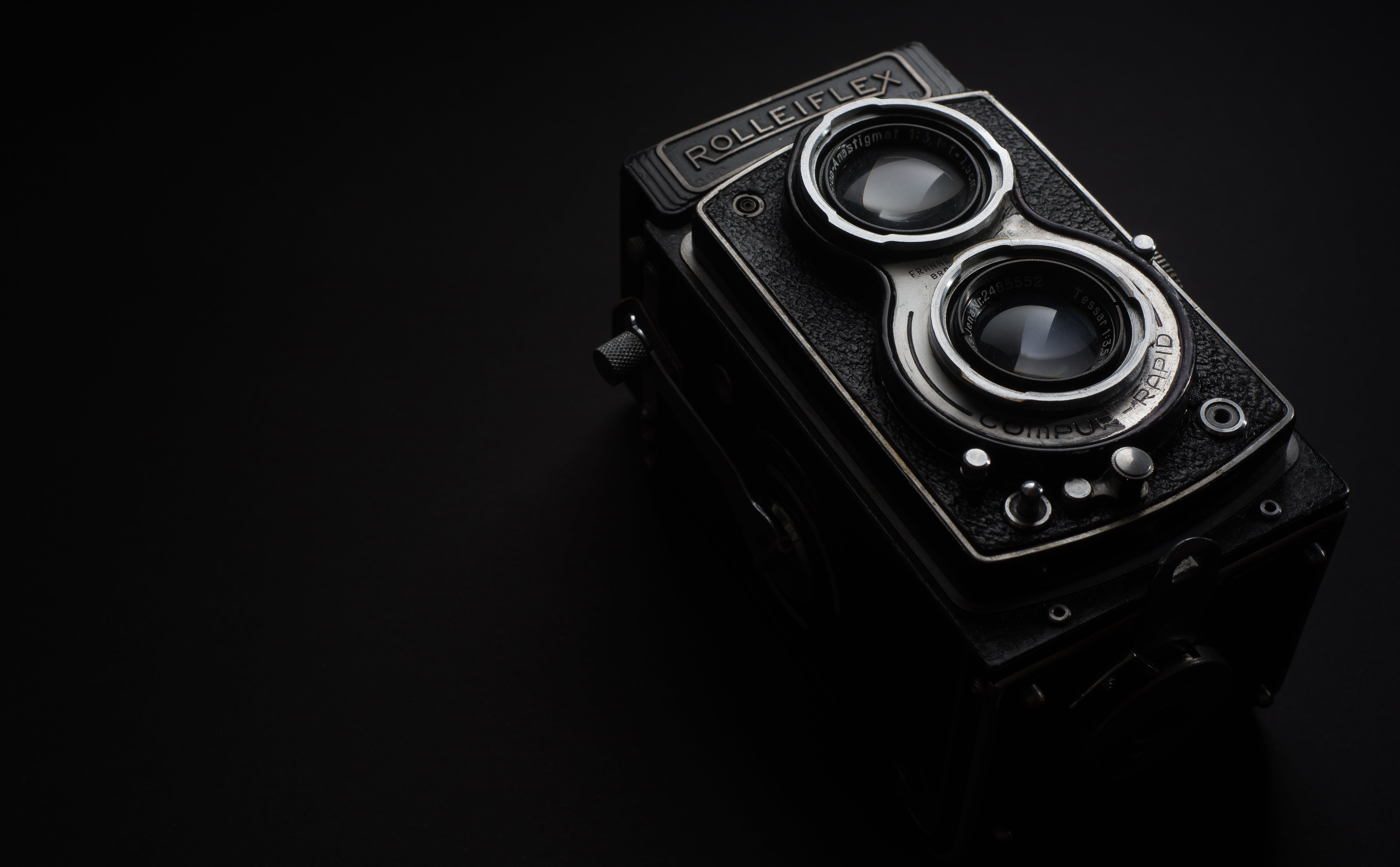Black Rolleiflex Camera