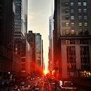 city, sunset, street