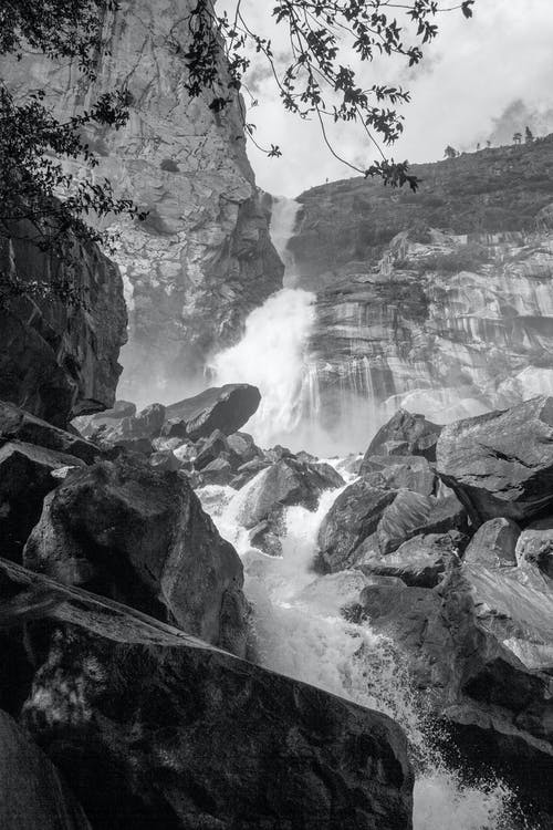 hetch hetchy, 岩石, 水, 潑灑 的 免費圖庫相片