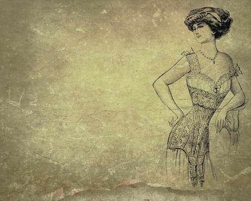 Free stock photo of background, corset, lady, vintage