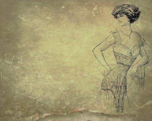 Gratis arkivbilde med bakgrunn, dame, korsett, retro