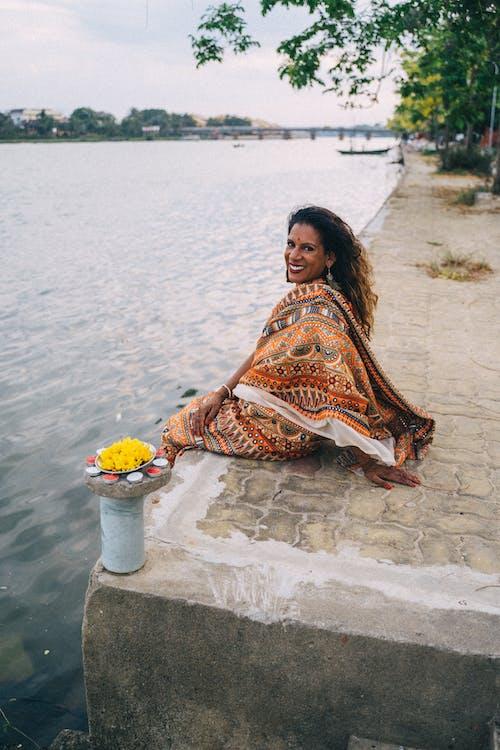 Free stock photo of adult, beach, diwali
