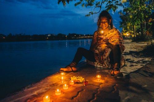 Free stock photo of adult, burning sparkler, candle