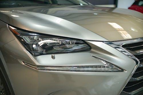 Silver Car With Open Door