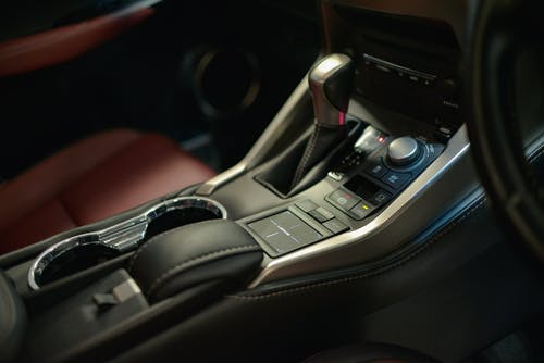 Black and Gray Car Gear Shift Lever