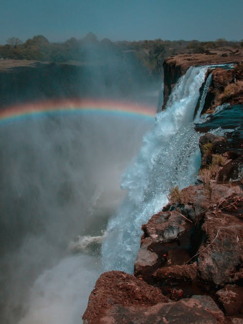 Free stock photo of 1992, africa, blue water, rainbow