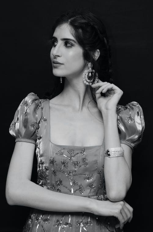 A Stylish and Beautiful Model Posing