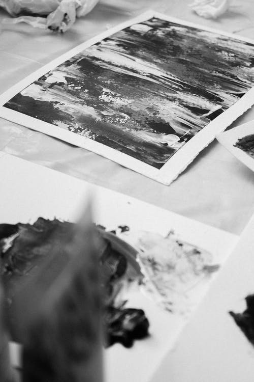 Artworks on Paper in Black and White
