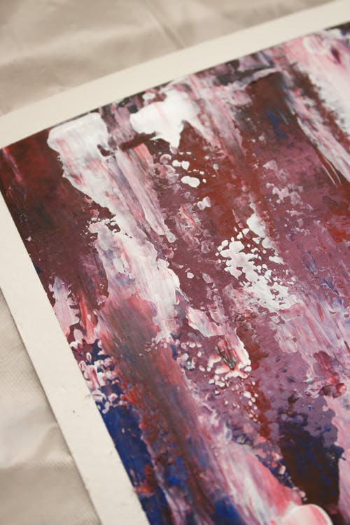 An Abstract Painting on Paper