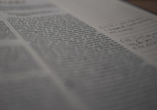 Gratis stockfoto met aantekening, Bijbel, bijbel studie, close-up