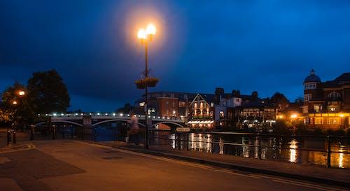Gratis stockfoto met lampen, nacht, weinig licht, windsor