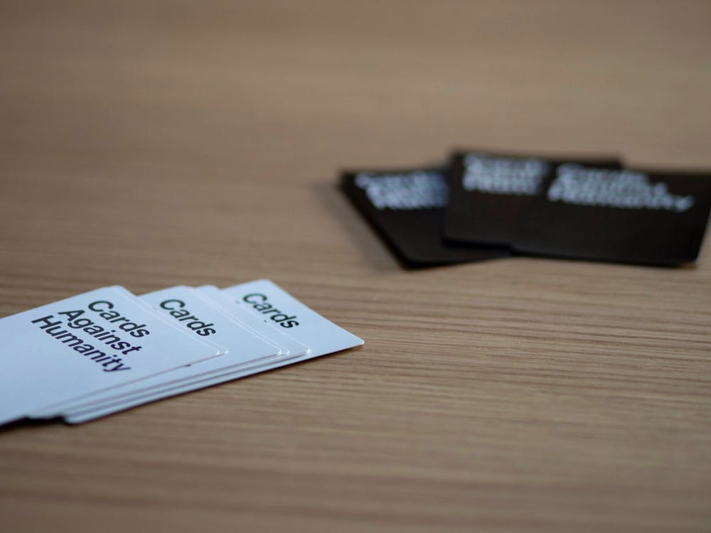 card game, cards against humanity, close up