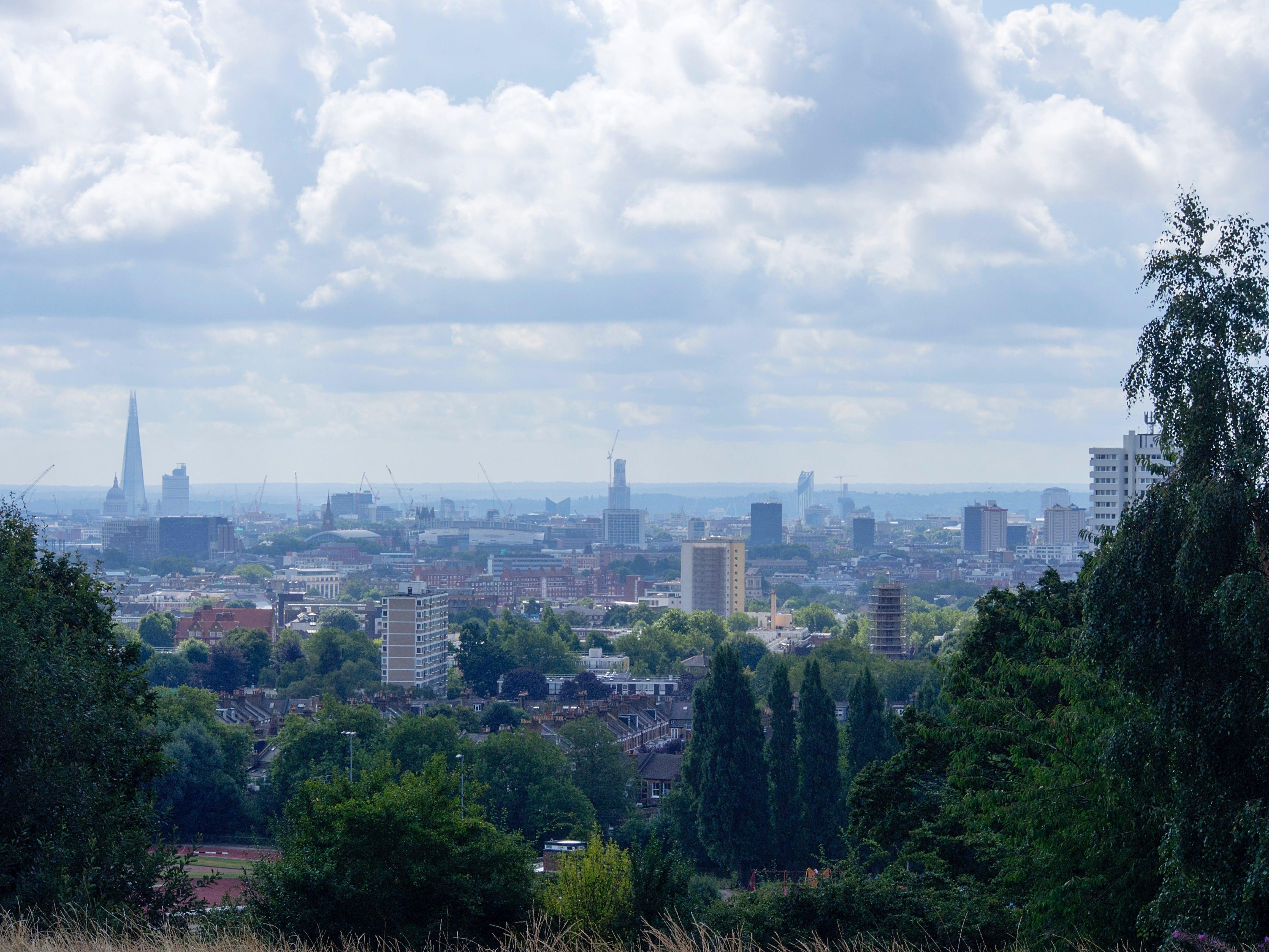 hampstead heath, london, parliament hill view