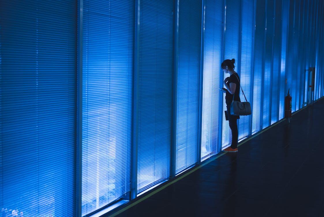 architektur, blau, drinnen