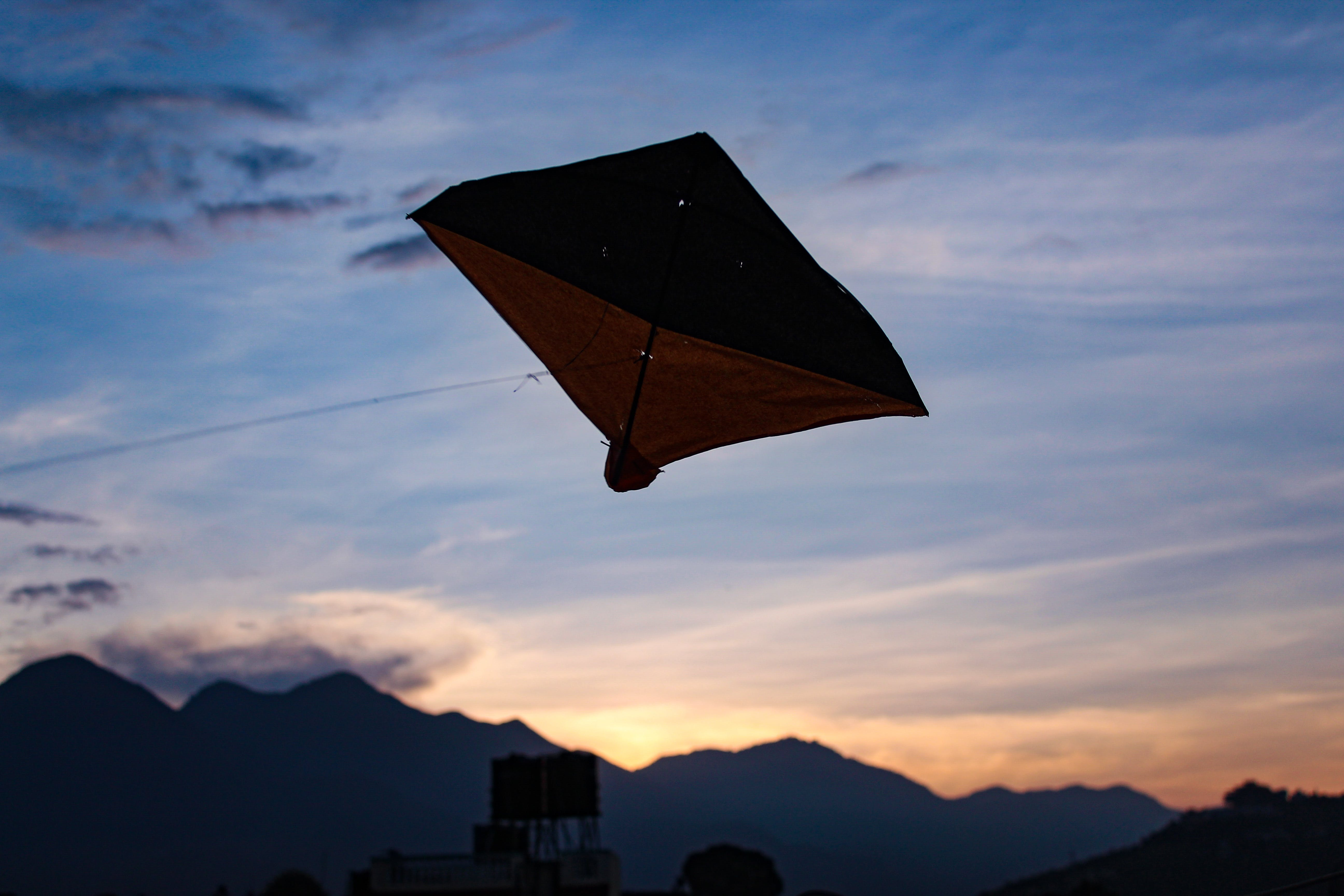 Free stock photo of #clouds, #flying, #Hills, #kite