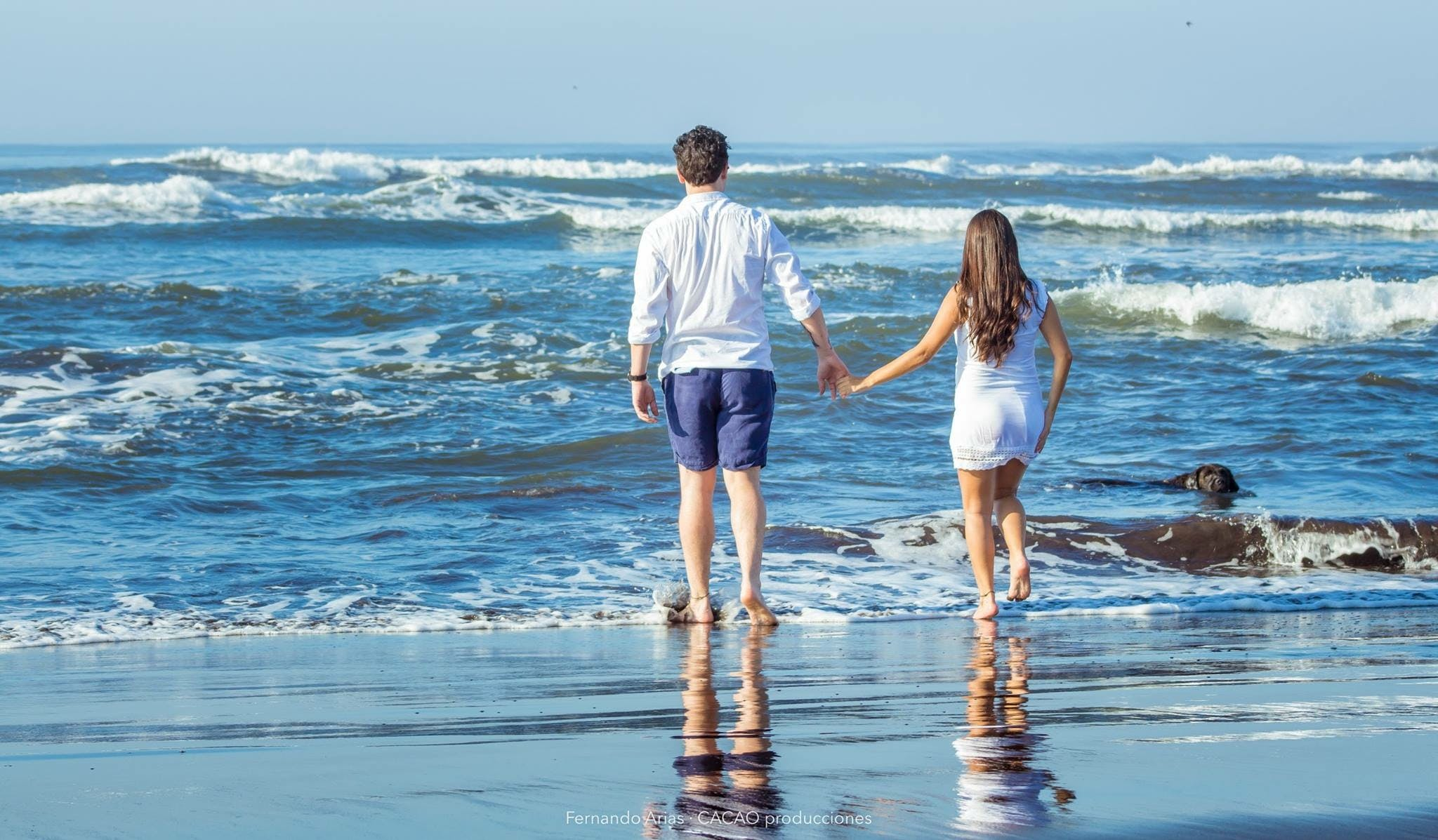 Free stock photo of barefoot, beach, blue, couple