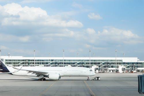 Immagine gratuita di aeroporto, arrivo, asfalto