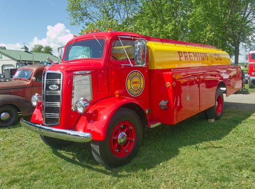 Free stock photo of 1947, 1950 gasoline truck, antique truck