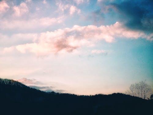 Fotobanka sbezplatnými fotkami na tému hora, obloha, obloha pokrytá oblakmi, strom