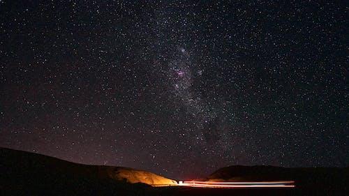 Brown Mountain Under Starry Night