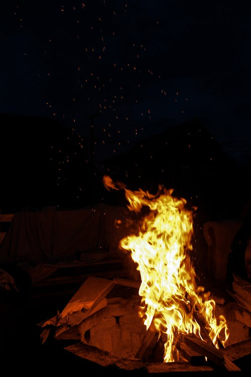 Darmowe zdjęcie z galerii z noc, ognisko, palenie