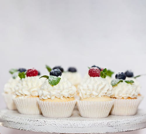 Whipped Cupcakes with Toppings