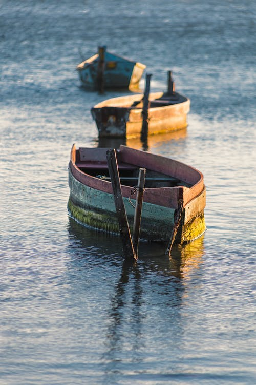 Wooden Boats on Water