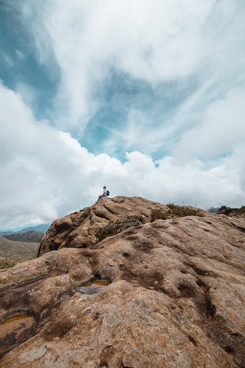 Free stock photo of adventure, azure, cliff