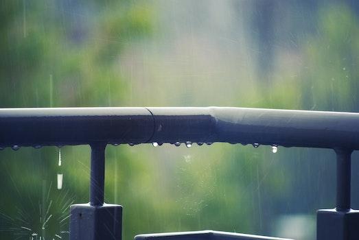 Kostenloses Stock Foto zu wasser, metall, regen, nass