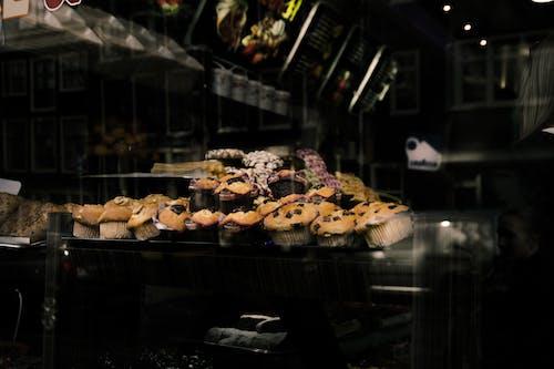 Freshly Baked Cupcakes in the Bakeshop