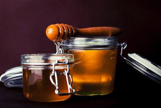 Free stock photo of spoon, glass, honey, jar