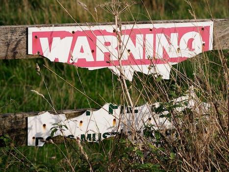 broken fence warning announcement - photo #25