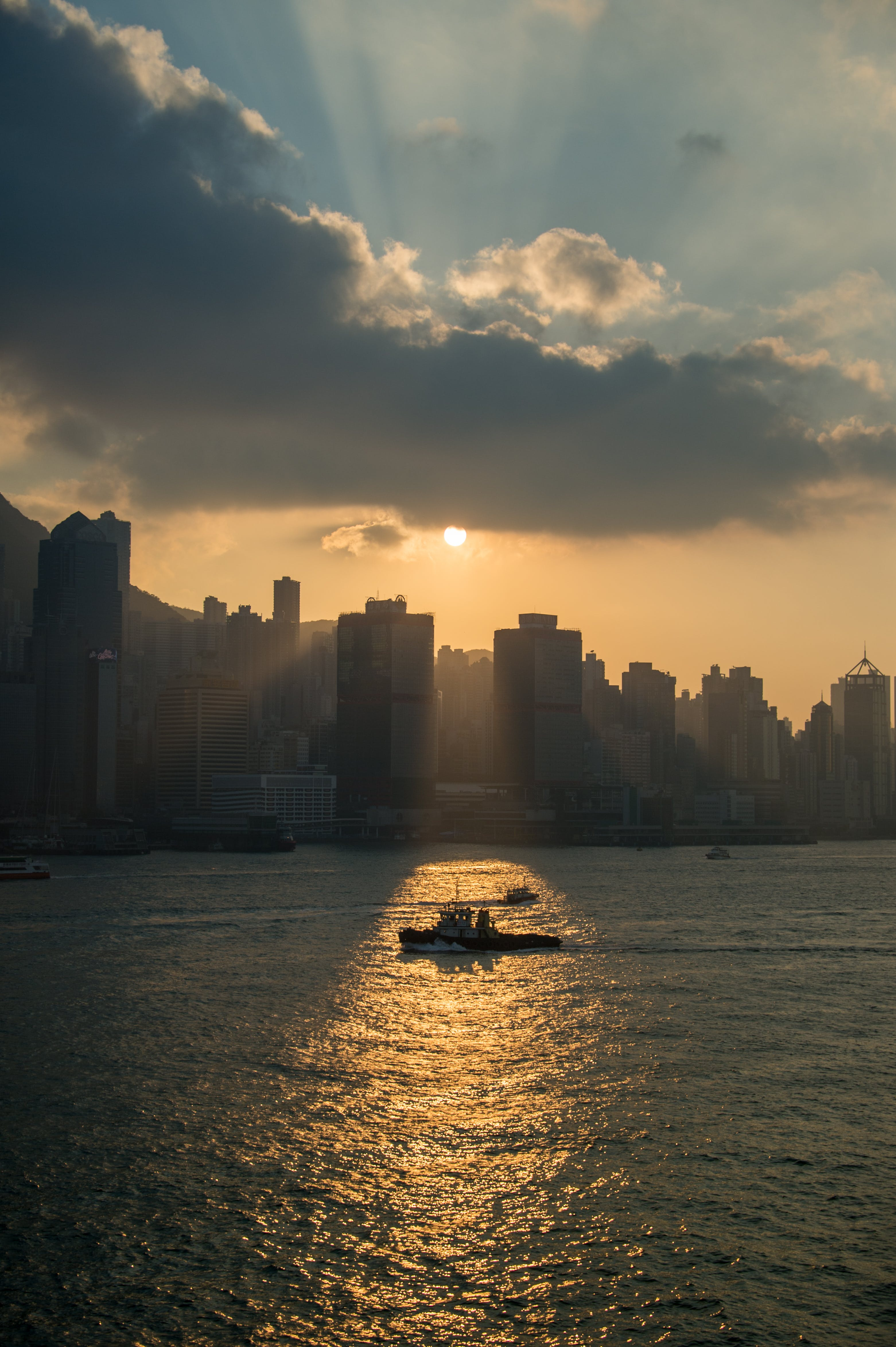Free stock photo of city, sunset, clouds, sun